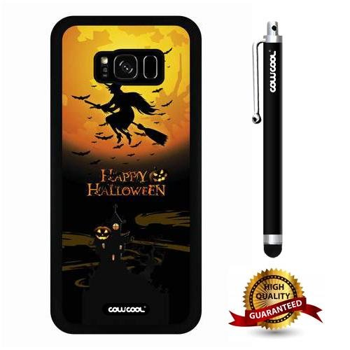 Galaxy S8 Plus Case, Halloween Case, Cowcool Ultra Thin Soft Silicone Case for Samsung Galaxy S8 Plus - Happy Halloween Wich