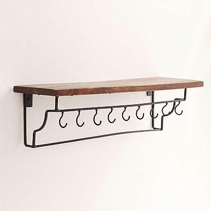 HETAO personalità Nordic Vintage Mensole in ferro battuto a parete ...