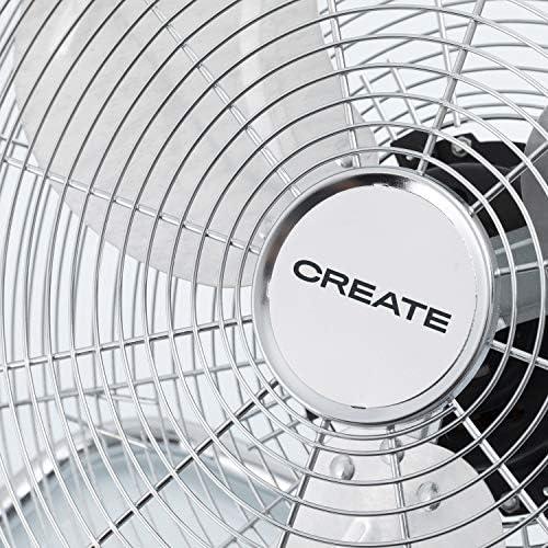 Chrom/é - 20 IKOHS EOLUS TURBO Ventilateur de sol de style industriel