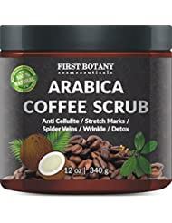 100% Natural Arabica Coffee Scrub 12 oz. with Organic...