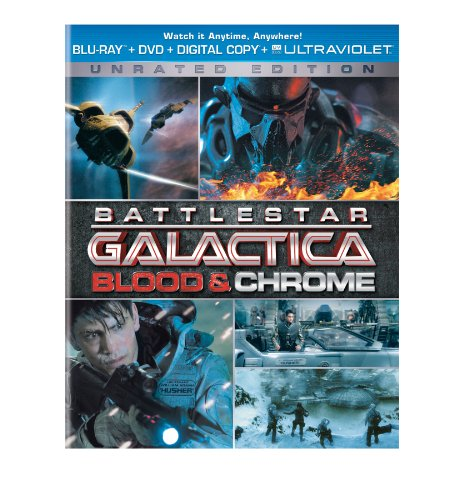Blu-ray : Battlestar Galactica: Blood and Chrome (With DVD, Ultraviolet Digital Copy, 2 Pack, Snap Case, Slipsleeve Packaging)
