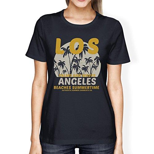 Sans Pull Femme Unique Courtes Angeles 365 Manches Summertime Beaches Manche Taille Printing Los 6EwqA
