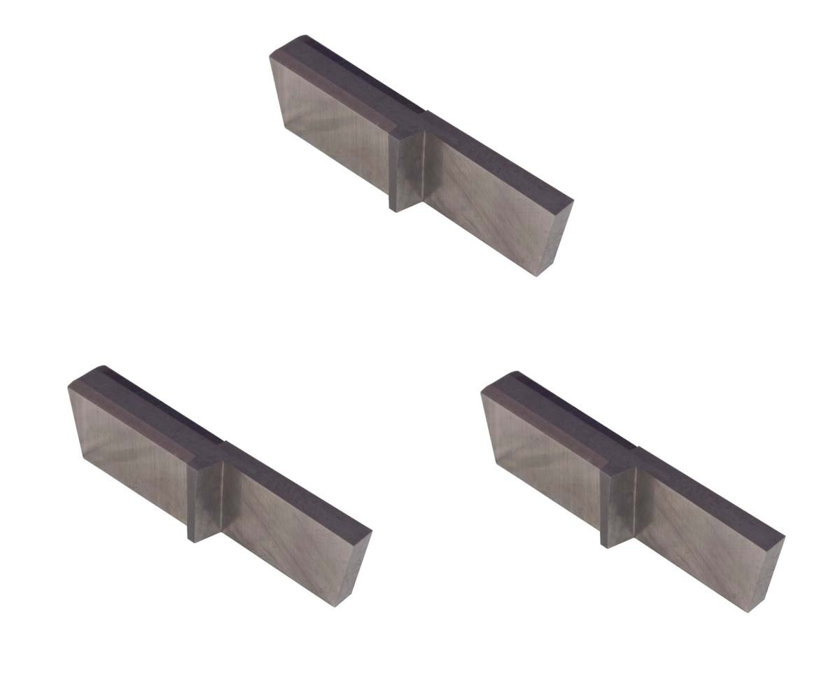Aluminium and Plastic Without Interrupted Cuts THINBIT 3 Pack LGPT025D5R7R L Series Uncoated Carbide Parting Insert for Non-Ferrous Alloys