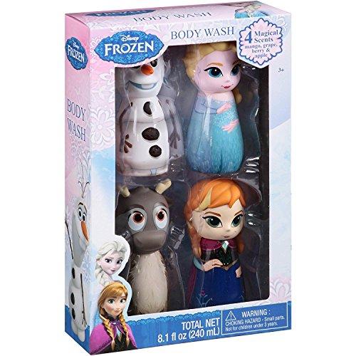 Disney Frozen Body Wash Set, 4 Count, Cute Character Bottles!