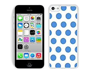 BINGO best price Polka Dot White and Blue iPhone 5C Case White Cover