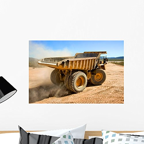 Dump Truck Coal (Wallmonkeys Dump Truck Wall Mural Peel and Stick Graphic (24 in W x 16 in H) WM273343)