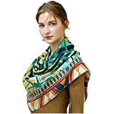 Women's Fashion Luxury Pure Wool Winter Scarves Printing Wraps Bandana(120cmx120cm),2#