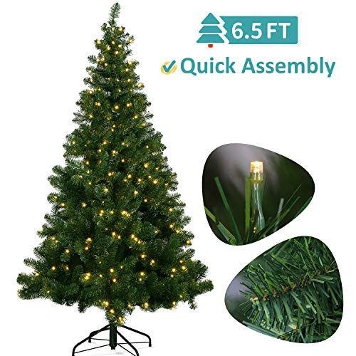 Best Artificial Christmas Tree With Led Lights in US - 1