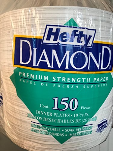 Hefty Diamond Paper Plates, Dinner Plates (10 5/8 in.,) 150 Count