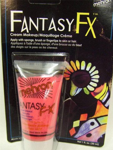 Glow In Dark Fantasy Fx Makeup (Mehron Fantasy FX Liquid Makeup - GLOW ORANGE 1 oz.)