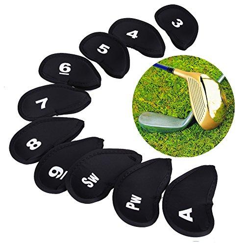 言うまでもなく半ば誘惑するRaiFu ゴルフヘッドカバー クラブ アイアン プロテクター ゴルフアクセサリー 10pcs