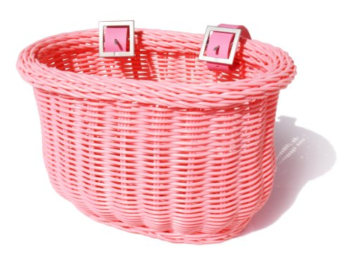Colorbasket 01266 Kid's Front Handlebar Bike Basket, Pink