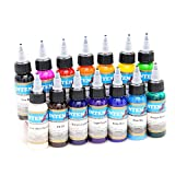BaodeLi@ 14 color permanent tattoo pigment tattoo ink embroidery machine 30ml beauty tools