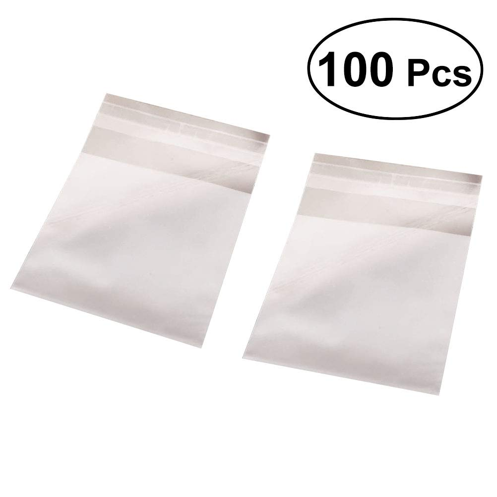 BESTONZON 100 Pcs Caramel Candy Wrappers Clear Non-Stick Candy Cellphone Wrappers for Soft Cadies and Caramels(8x10+3cm)