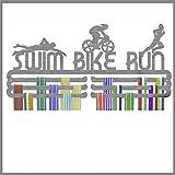 Medal Hanger Display Swim Bike Run Stainless Steel Triple Tier