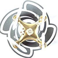 RC Quadcopter Helicopter Mini Remote-controlled Rechargeable Arm Drone 4 Channels 6 Axis Gyro 2.4 Ghz Gold