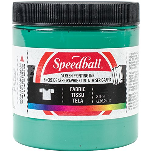 Speedball Art Products 465284 Fabric Screen Printing Ink, 8-Ounce, (Green Printing)