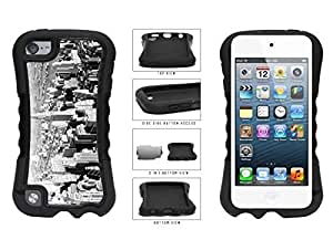 Black and White Bird's Eye City View Dual Layer Phone Case Back For HTC One M7 Case Cover th Generation