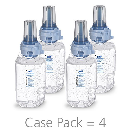 PURELL Advanced Hand Sanitizer Green Certified Gel, 700 mL Gel Hand Sanitizer Refill for PURELL ADX-7 Dispenser (Pack of 4) - 8703-04