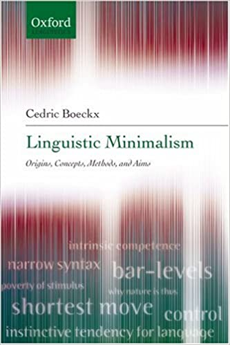 Read online Linguistic Minimalism: Origins, Concepts, Methods, and Aims PDF, azw (Kindle), ePub, doc, mobi
