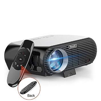 Proyector portátil LED HD 1080P GP100UP, Proyector inalámbrico ...