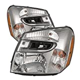 chevy equinox headlight assembly - Headlights Depot Replacement for Chevy Equinox New Chrome Headlights Set Headlamps Pair