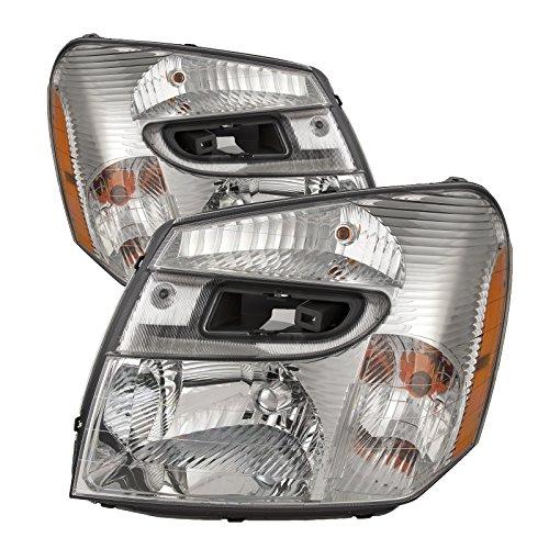 Headlights Depot Equinox Chrome Headlamps product image