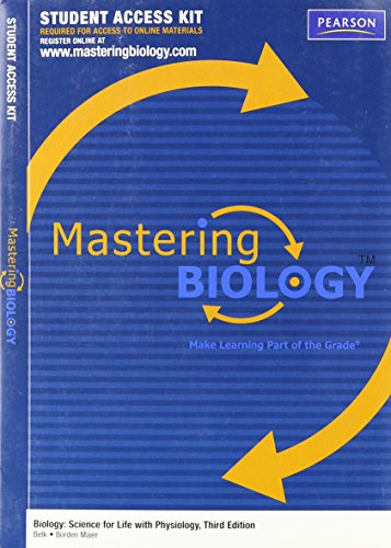 MasteringBiology Student Access Kit for Biology: Science for Life with Physiology