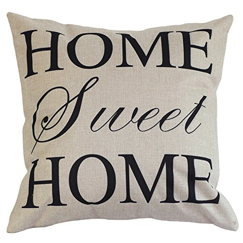 3 Patterns Home Decor Cotton Linen Letter Throw Sofa Pillow Case Car Cushion Cover GDRAVEN