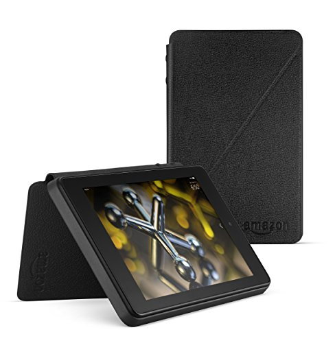 Standing Leather Case for Fire HD 6 (4th Generation), Black ()