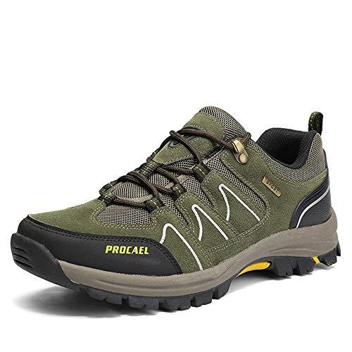 - Super frist Men's Non-Slip wear-Resistant Waterproof Hiking Shoes Outdoor Breathable Lightweight Trekking 9 Styles(Green 1756 & 45/10.5 D(M) US Men)