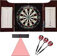 Viper by GLD Products Hudson Dartboard Cabinet, Viper Dead-On Bristle Dartboard, Viper Black Mariah Steel Tip