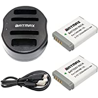 Batmax 2Packs NB-13L NB 13L NB13L Battery + USB Dual Charger for Canon NB-13L Battery;Canon PowerShot G1 X Mark III G5X G7X G9X G7 X Mark II G9X Mark II SX620 HS SX720 HS SX730 HS Digital Cameras