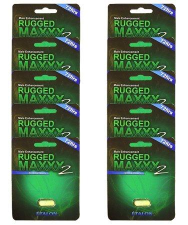 Rugged Maxxx 2 E'Talon | 100% Herbal male enhancer | supplement lasting 3 to 5 days - Increased Energy, Increased Stamina (Vegan Capsule) 10 Pack