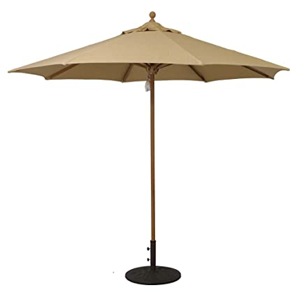 Etonnant Galtech International 532 Series 9u0027 Designer Teak Umbrella