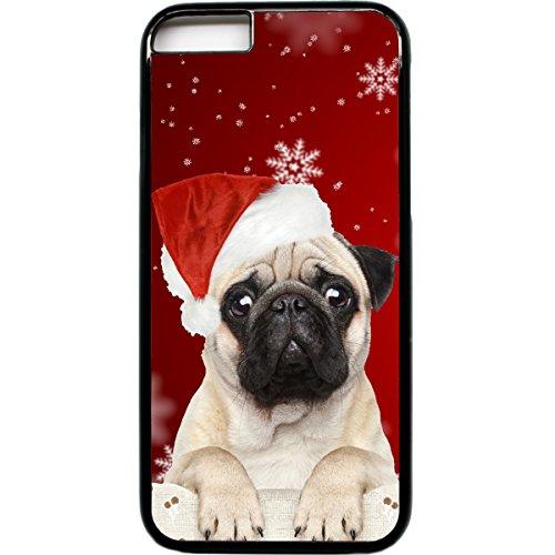 iPhone 6 Tasche Süßer Mops secret santa Weihnachten Weihnachts Geschenk
