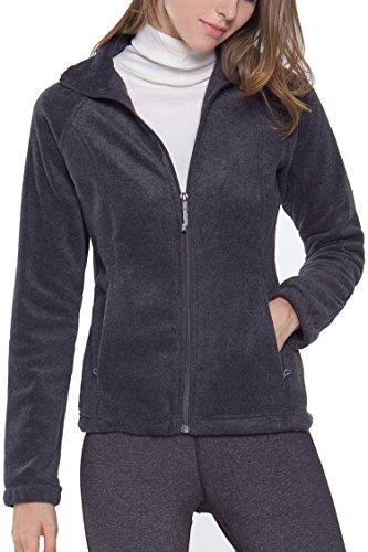 Women's Full-Zip Polar Sport Fall Winter Spring Fleece Jacket Charcoal S