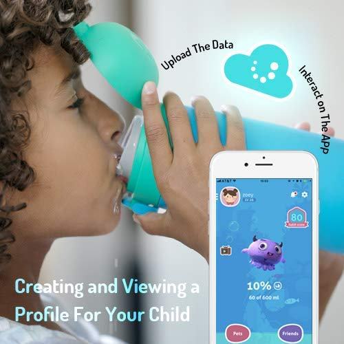 Smart Water Bottle for Kids - GululuGo Interactive Water Bottle Includes Games and Stories Along with a Health Tracking Smartphone App, 350ml Smart Water Bottle for Kids by Gululu (Image #2)