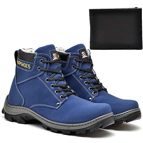 Bota Masculina SnapShoes Azul Com Carteira
