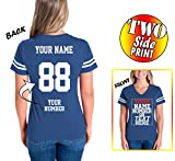 Custom Cotton Jerseys for Women - MAKE YOUR OWN JERSEY T Shirts - Personalized Team Uniforms for Casual Outfit - V Neck