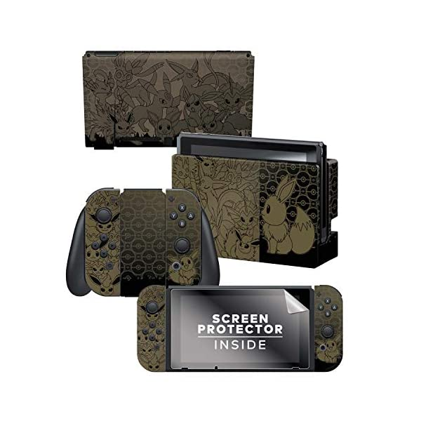 Controller Gear Nintendo Switch Skin & Screen Protector Set - Pokemon - Eevee Evolutions Set 1 - Nintendo Switch 1