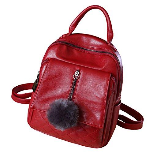 Leather School Laptop Bordeaux Womens Shoulder Bags Handbags Backpack Backpack Bag Handbags zwvRzWr