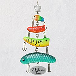 Hallmark Keepsake Christmas Ornament 2018 Year Dated, Fishing Lures O Fishmas Tree
