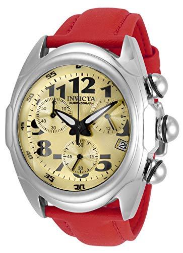 Invicta Lupah Reloj de cuarzo de acero inoxidable para hombre con correa de poliuretano, rojo, 26 (modelo: 31404)