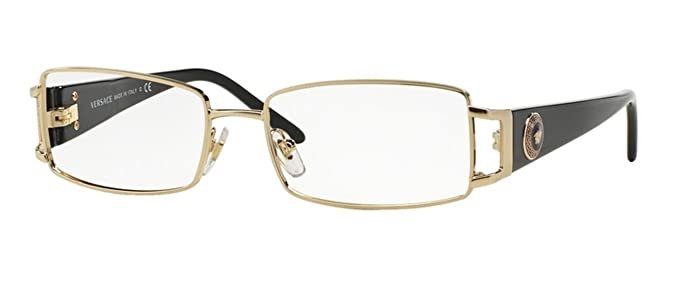 versace ve1163m eyeglass frames 1252 52 pale gold