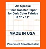 Ink Jet Opaque II dark Transfer Paper 8.5x11 10 t shirt