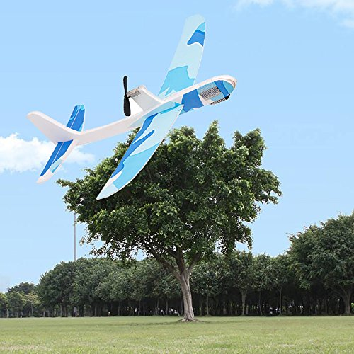 Yansion Upgraded Paper Foam Airplane Super Capacitor Electric Hand Throwing Free-flying Glider DIY Airplane Model Education (Electric Airplane Glider)
