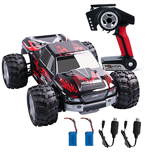 Wltoys 1:18 RC Car 4WD High Speed Off Road Remote Control Car 50km/h 2.4Ghz Radio Controlled Monster Truck Buggy Racing Toy Electric Vehicle Rock Crawler for Kids and Adults ()