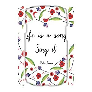 Custom Cover Case with Hard Shell Protection for Samsung Galaxy S3 I9300 3D case with Life is a Song lxa#251754 by mcsharks
