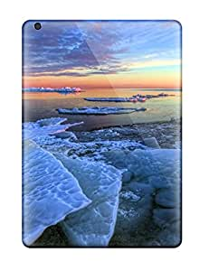 For PeggyPhillips Ipad Protective Cases, High Quality For Ipad Air Ice Landscape Skin Cases Covers